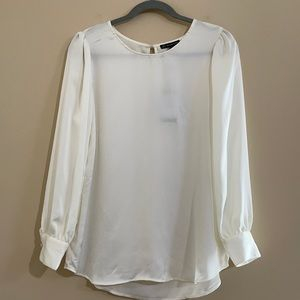NWT Adrianna Papell Satin Blouse Size S
